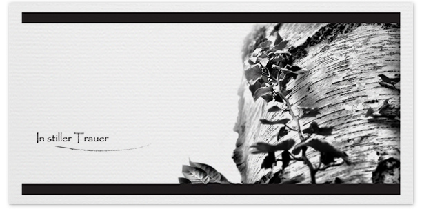 Trauerkarte Motiv - Nr. 018 BA