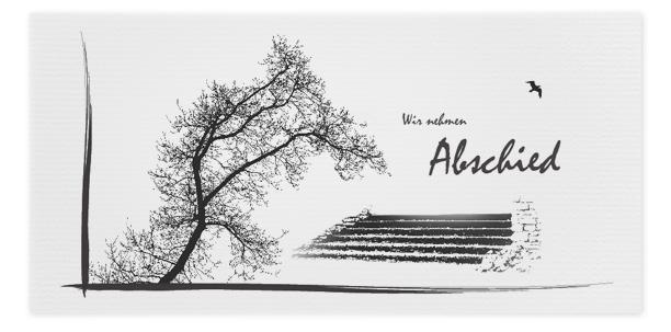 Trauerkarte Baum Treppe Motiv - Nr. 019 BA