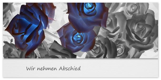 Trauerkarte Rosen Motiv - Nr. 026 BL