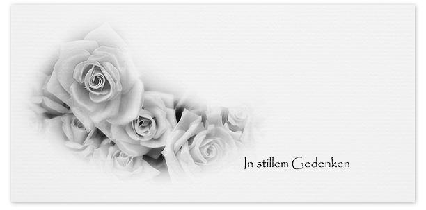 Trauerkarte Rosen Motiv - Nr. 029 BL