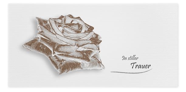 Trauerkarte Rose Motiv - Nr. 041 BL