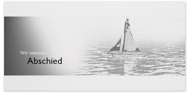 Trauerkarte Segelboot Motiv - Nr. 015 BO
