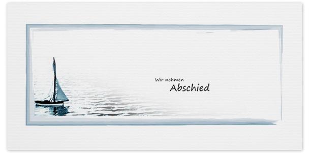 Trauerkarte Segelboot  Motiv - Nr. 016 BO