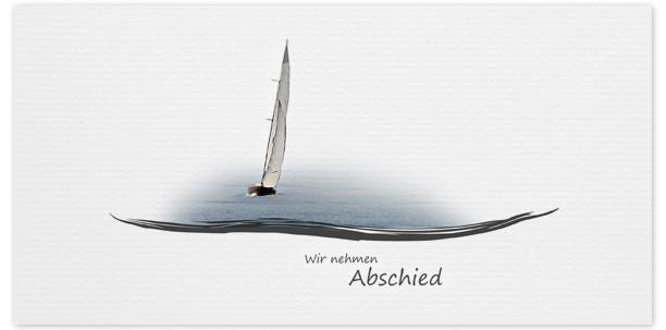 Trauerkarte Segelboot  Motiv - Nr. 017 BO