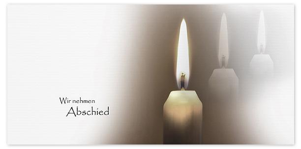 Trauerkarte Kerze Motiv - Nr. 015 KE