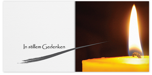 Trauerkarte Kerze Motiv - Nr. 016 KE