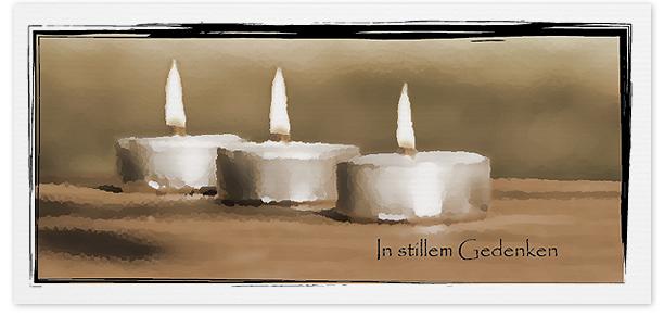 Trauerkarte Teelichter Motiv - Nr. 019 KE