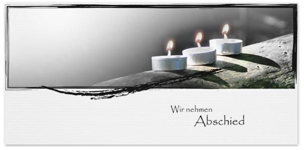 Trauerkarte Teelichter Motiv - Nr. 021 KE