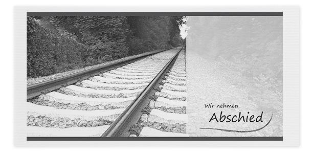 Trauerkarte Bahngleis Zug Motiv - Nr. 027 SO