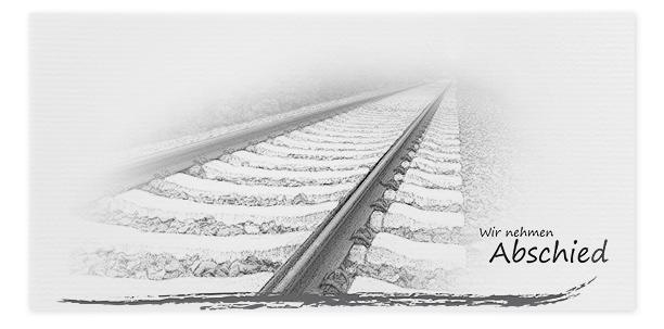 Trauerkarte Bahngleis Zug Motiv - Nr. 040 SO
