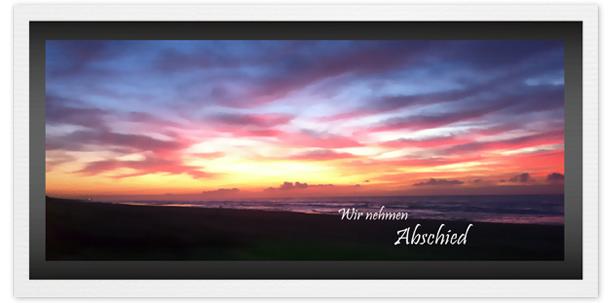 Trauerkarte SonnenuntergangMotiv - Nr. 021 SU