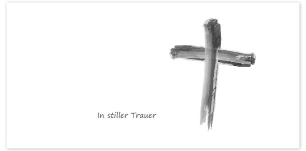 Trauerkarte Motiv - Nr. 017 SY