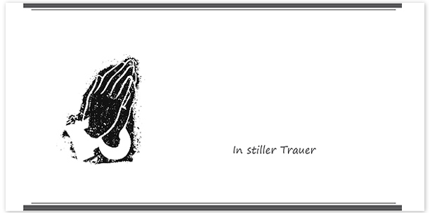 Trauerkarte Motiv - Nr. 026 SY