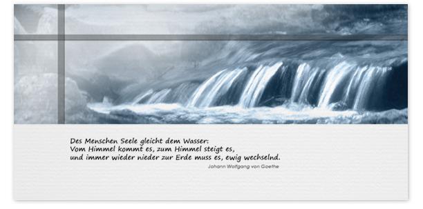 Trauerkarte Motiv - Nr. 015 WS