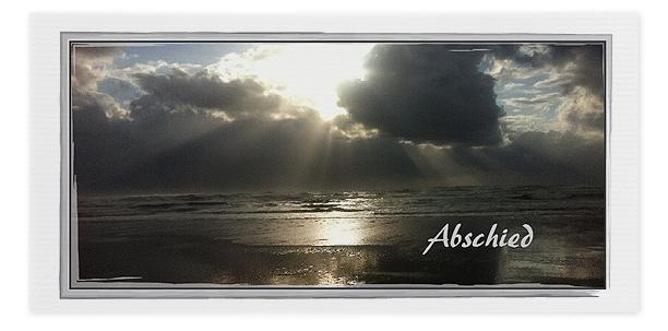 Trauerkarte Sonnenuntergang Meer Motiv - Nr. 023 SU