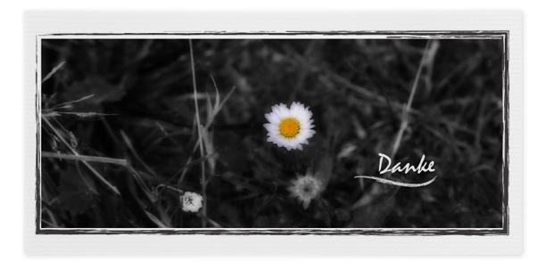 Trauer Danksagung Motiv - Nr. D 044 BL
