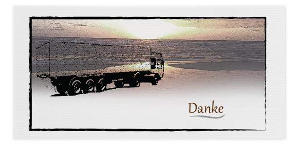 Danksagung LKW Lastwagen Trauerfall Motiv Nr. DSO 041