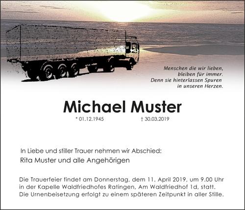 Traueranzeige LKW Lastwagen online bestellen Trauer Todesanzeige