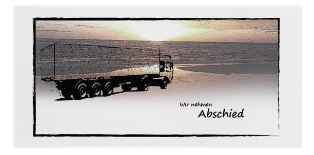 Trauerkarte LKW Lastwagen online bestellen Trauer Abschied