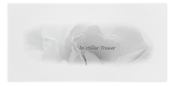 Trauerkarte Rose Motiv - Nr. 049 BL