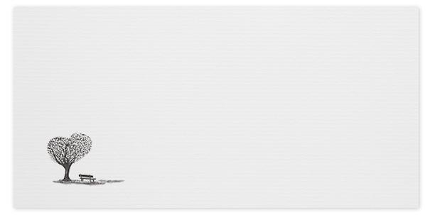 trauerumschlag bank mit baum in herzform online bestellen trauer abschied